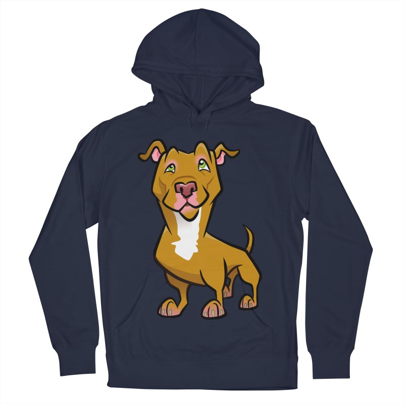 Red Pit Bull Men's Pullover Hoody by binarygod's Artist Shop
