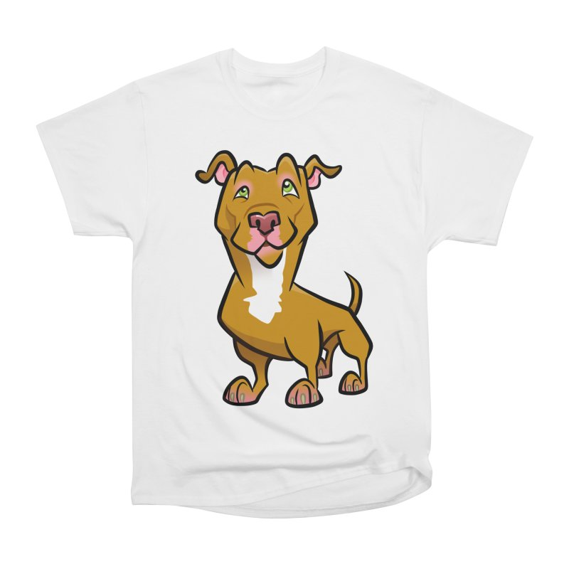 Red Pit Bull Men's Heavyweight T-Shirt by binarygod's Artist Shop