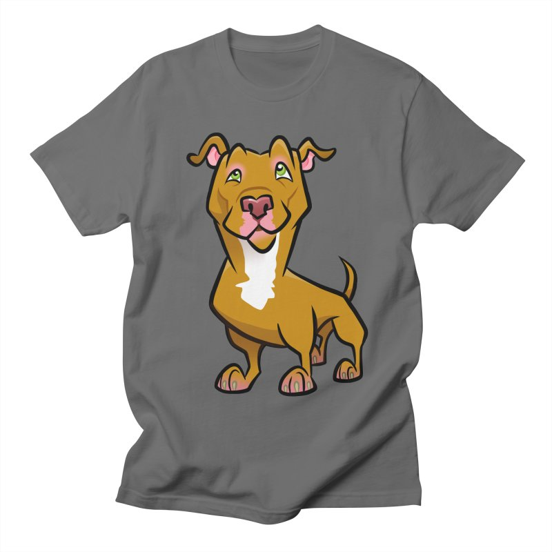 Red Pit Bull Men's T-Shirt by binarygod's Artist Shop