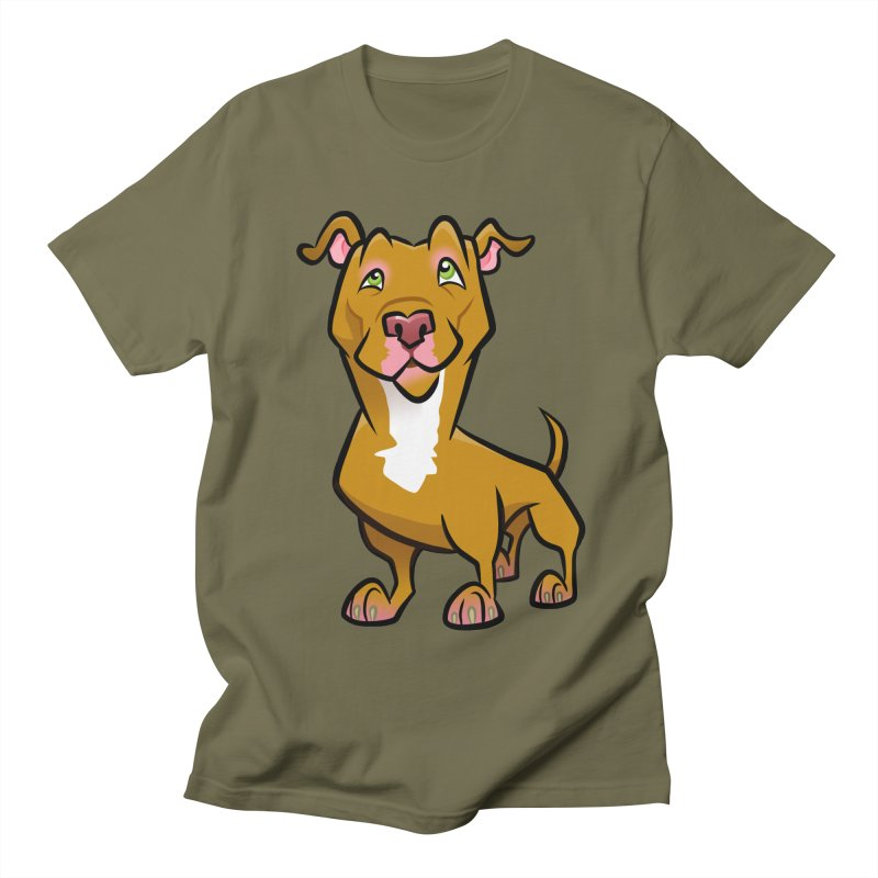 Red Pit Bull Women's Regular Unisex T-Shirt by binarygod's Artist Shop