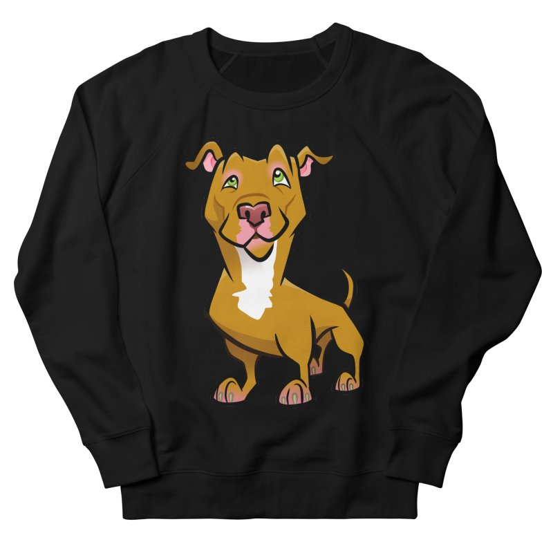 Red Pit Bull Women's French Terry Sweatshirt by binarygod's Artist Shop