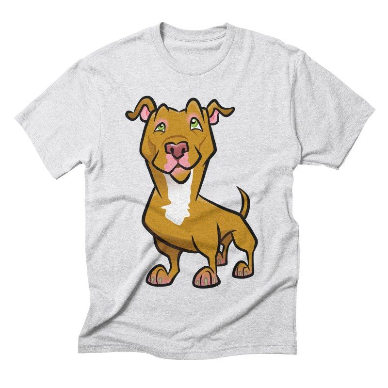 Red Pit Bull Men's Triblend T-Shirt by binarygod's Artist Shop