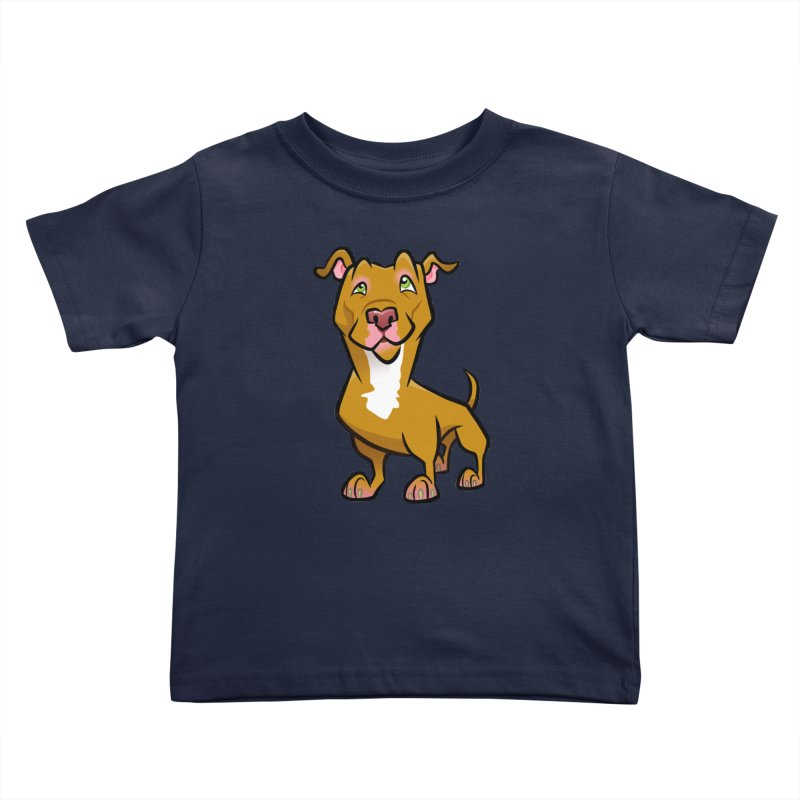 Red Pit Bull Kids Toddler T-Shirt by binarygod's Artist Shop
