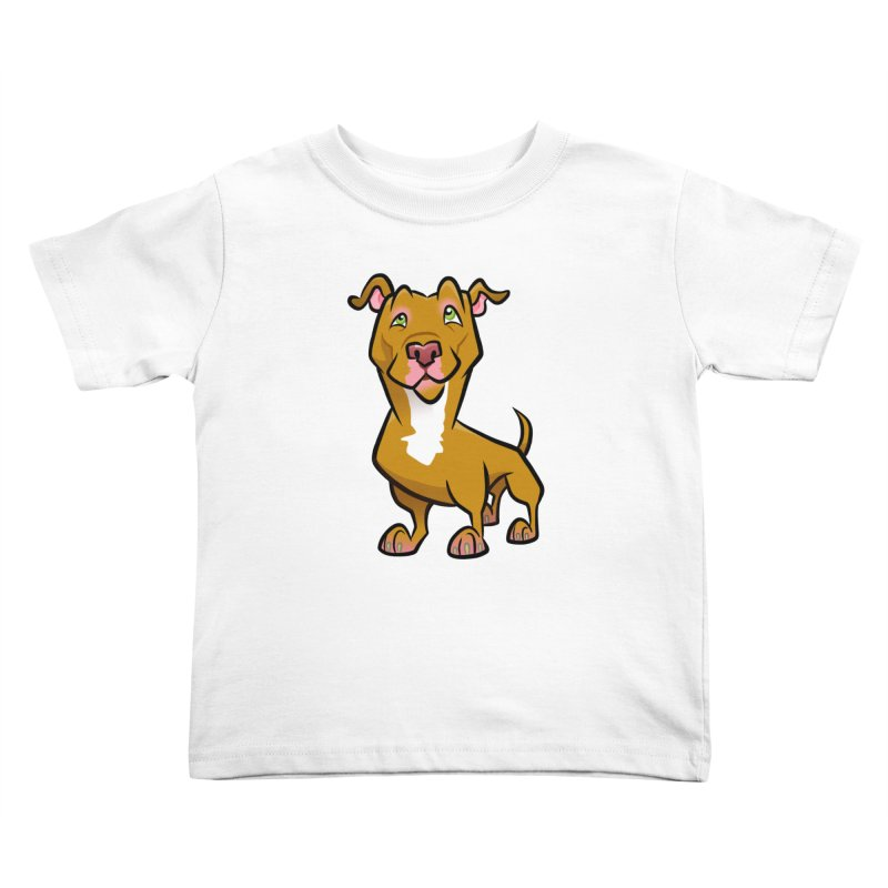 Red Pit Bull Kids Toddler T-Shirt by binarygod's Artist Shop