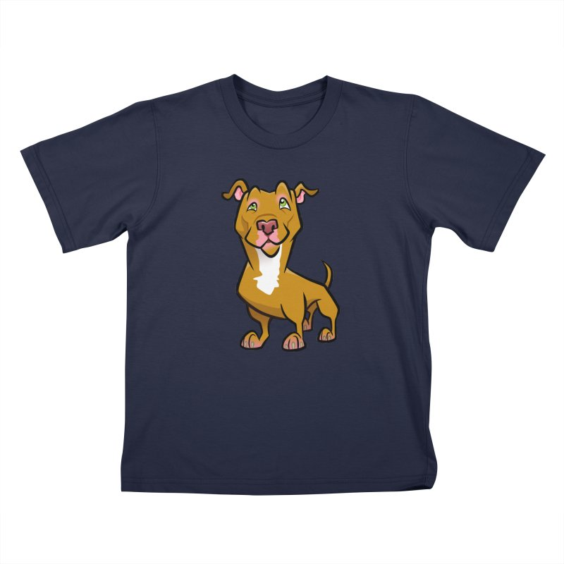 Red Pit Bull Kids T-Shirt by binarygod's Artist Shop
