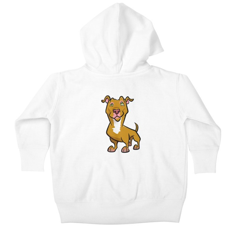 Red Pit Bull Kids Baby Zip-Up Hoody by binarygod's Artist Shop