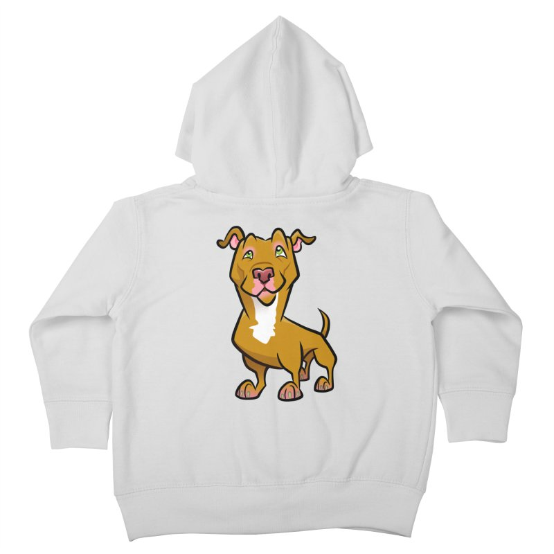Red Pit Bull Kids Toddler Zip-Up Hoody by binarygod's Artist Shop