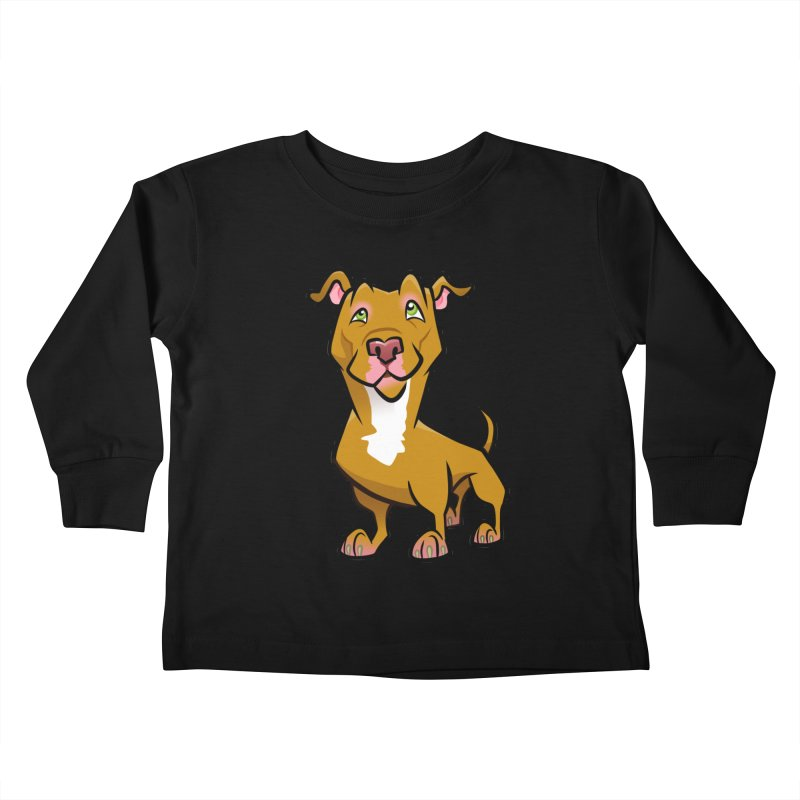 Red Pit Bull Kids Toddler Longsleeve T-Shirt by binarygod's Artist Shop