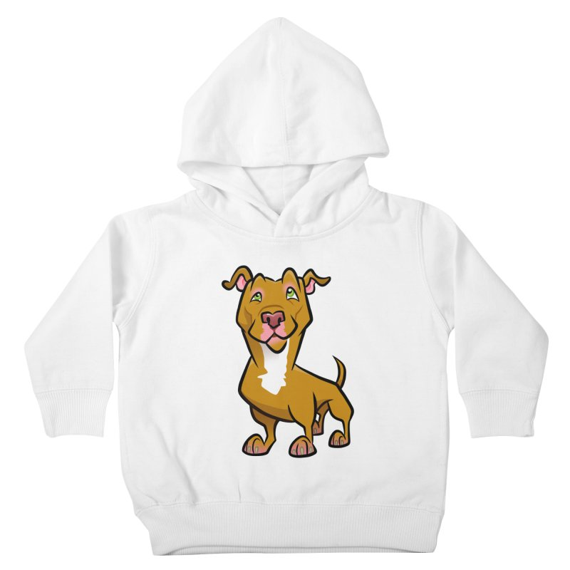 Red Pit Bull Kids Toddler Pullover Hoody by binarygod's Artist Shop