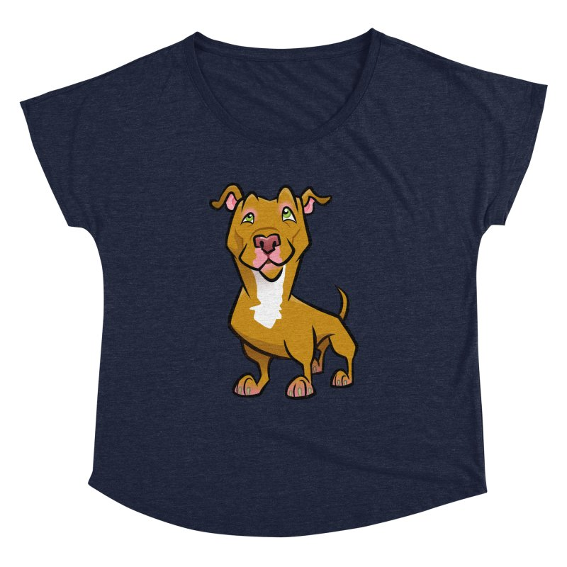 Red Pit Bull Women's Dolman Scoop Neck by binarygod's Artist Shop