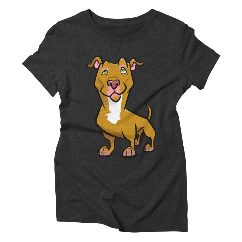 Red Pit Bull Women's Triblend T-Shirt by binarygod's Artist Shop
