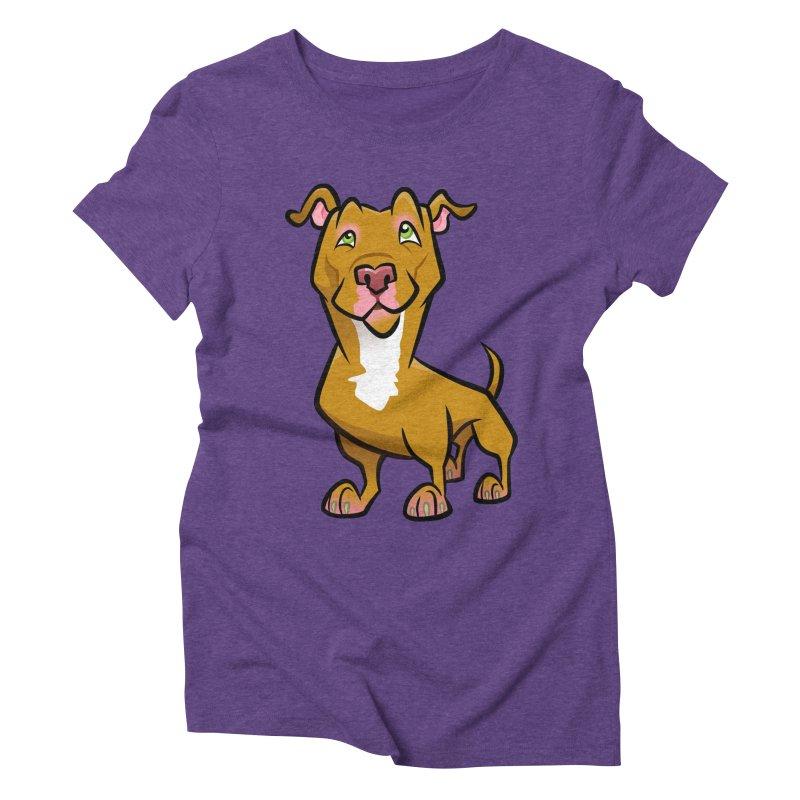 Red Pit Bull Women's Triblend T-Shirt by binarygod's Artist Shop