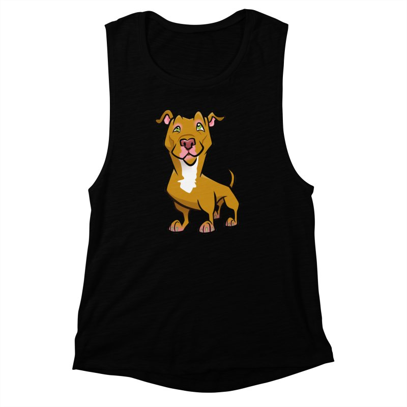 Red Pit Bull Women's Muscle Tank by binarygod's Artist Shop