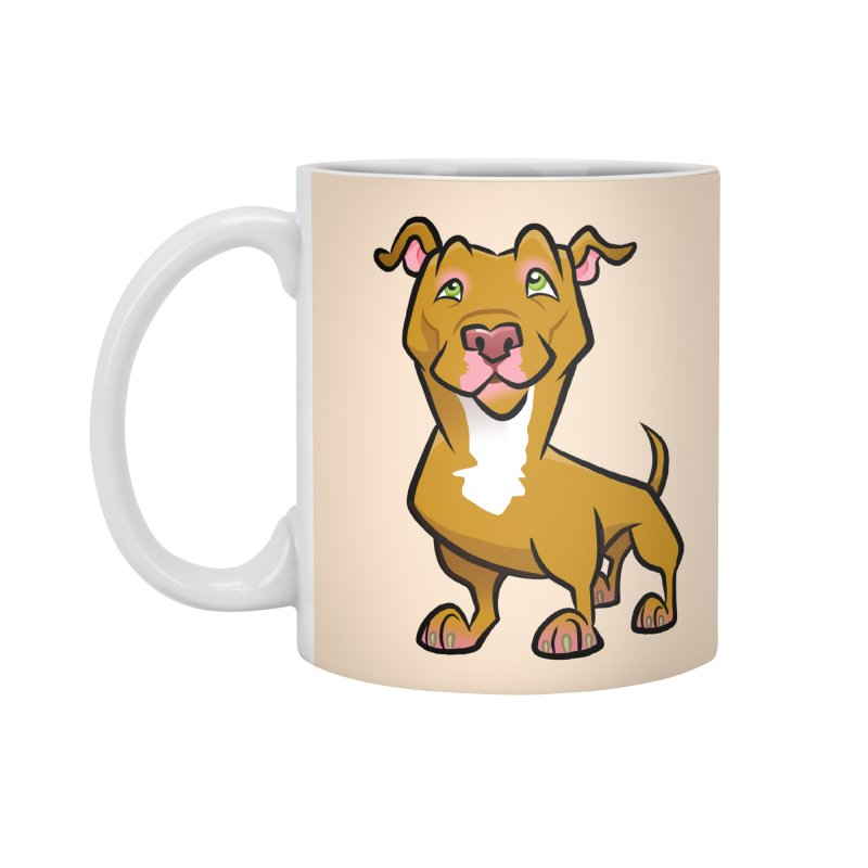 Red Pit Bull Accessories Standard Mug by binarygod's Artist Shop