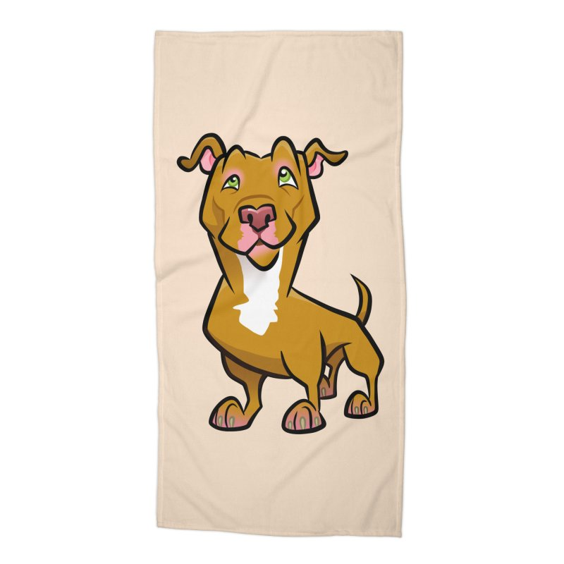 Red Pit Bull Accessories Beach Towel by binarygod's Artist Shop