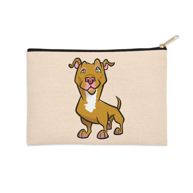 Red Pit Bull Accessories Zip Pouch by binarygod's Artist Shop