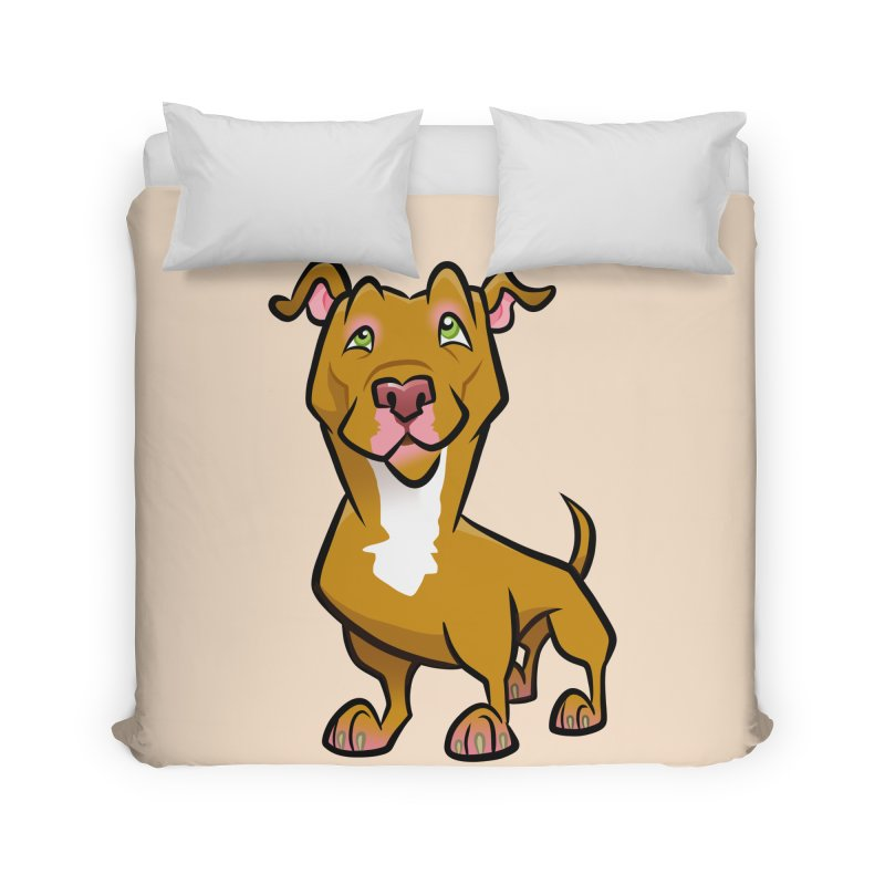 Red Pit Bull Home Duvet by binarygod's Artist Shop