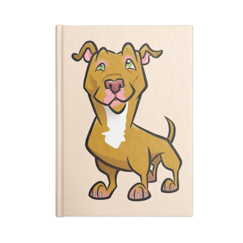Red Pit Bull Accessories Lined Journal Notebook by binarygod's Artist Shop