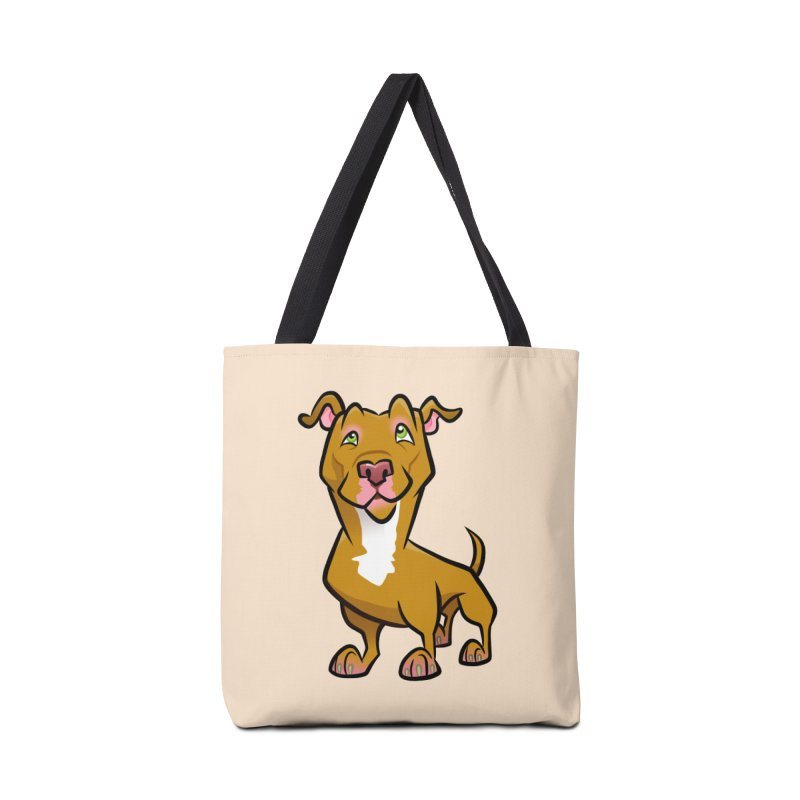 Red Pit Bull Accessories Bag by binarygod's Artist Shop