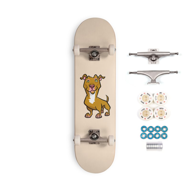Red Pit Bull Accessories Complete - Premium Skateboard by binarygod's Artist Shop