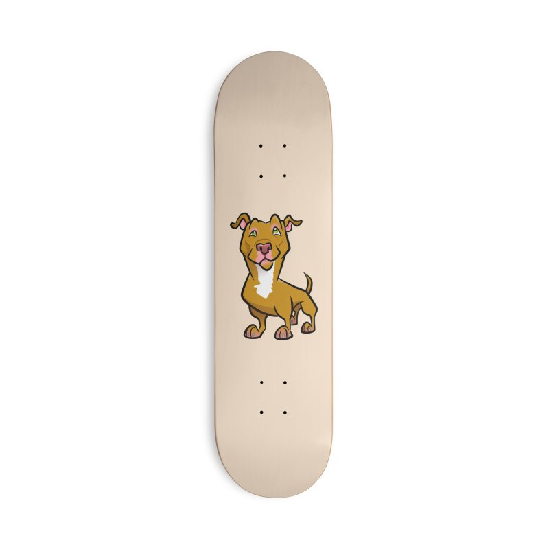 Red Pit Bull Accessories Deck Only Skateboard by binarygod's Artist Shop