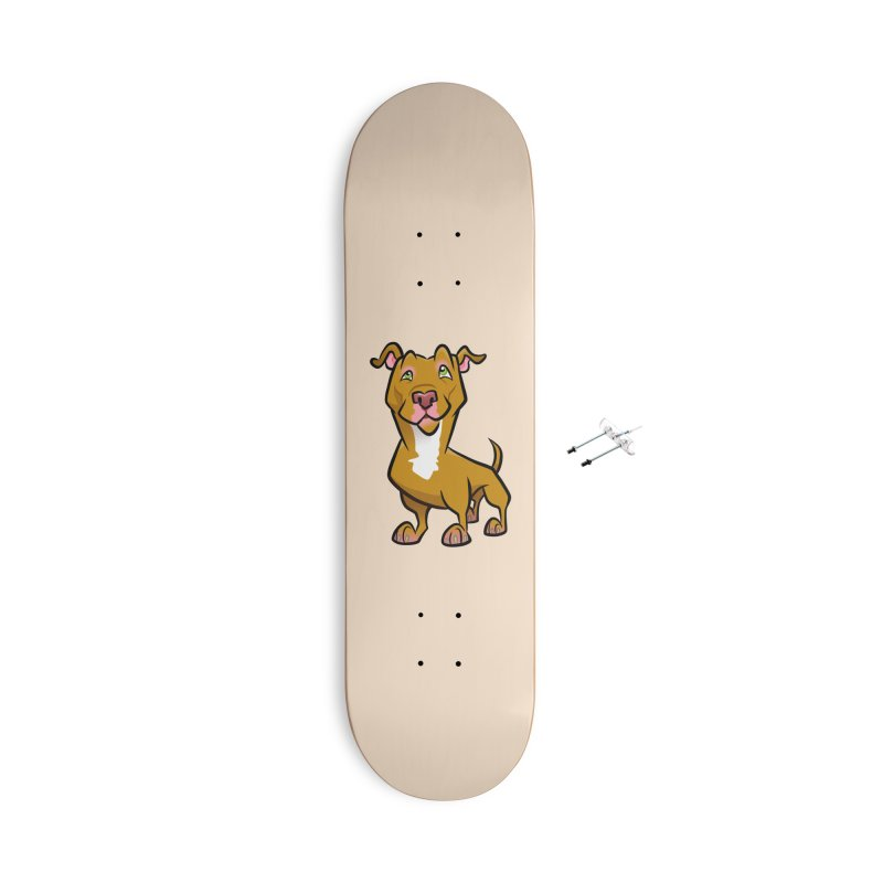 Red Pit Bull Accessories Skateboard by binarygod's Artist Shop