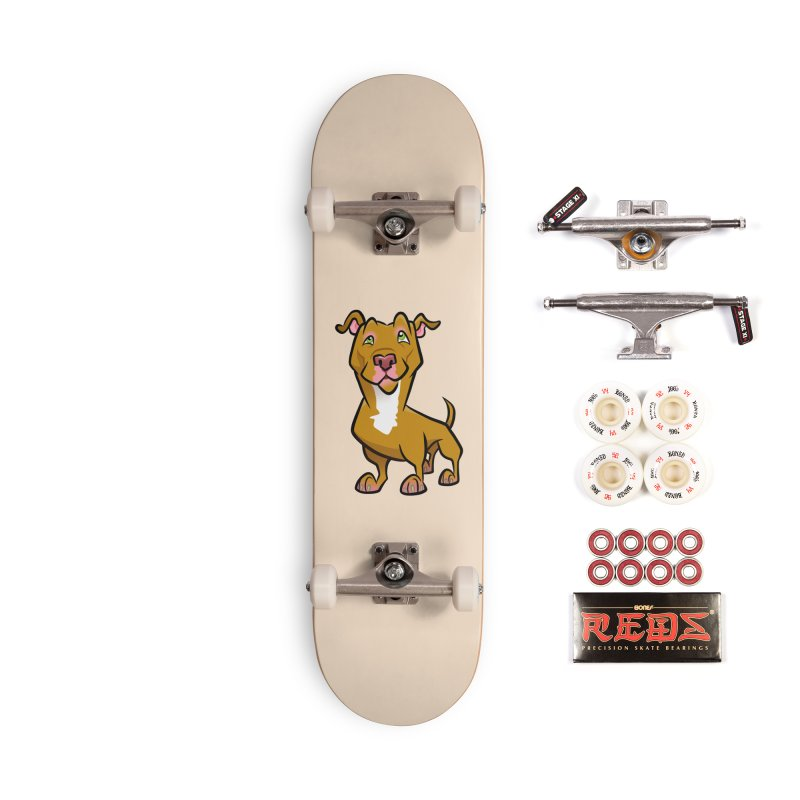 Red Pit Bull Accessories Complete - Pro Skateboard by binarygod's Artist Shop