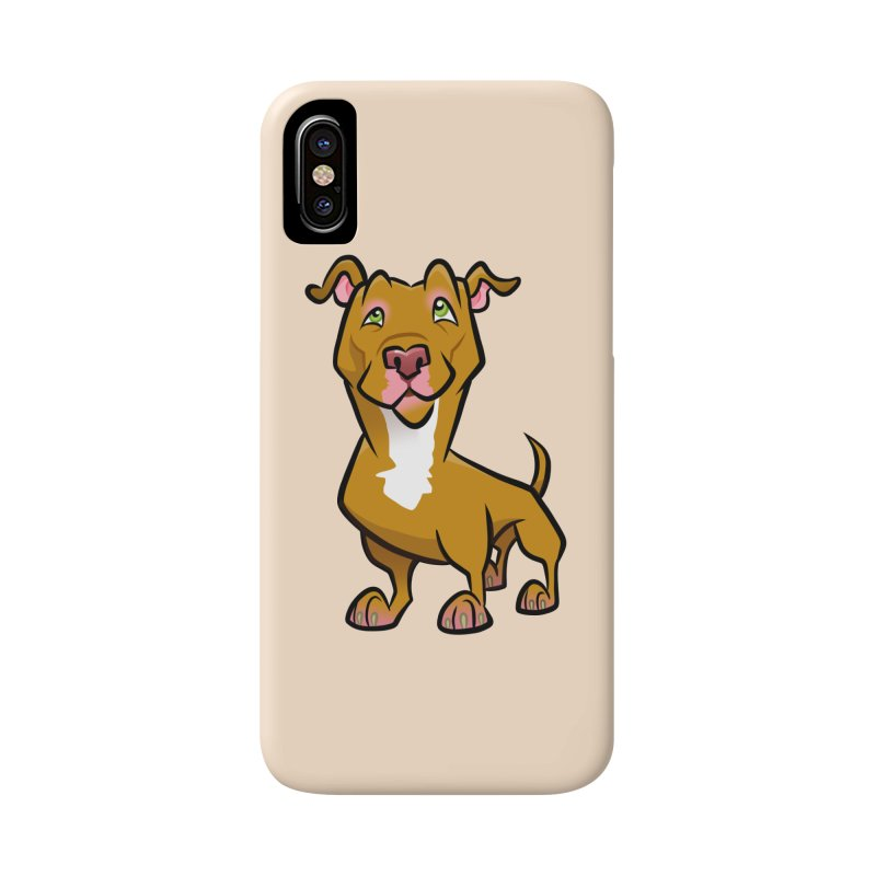Red Pit Bull Accessories Phone Case by binarygod's Artist Shop