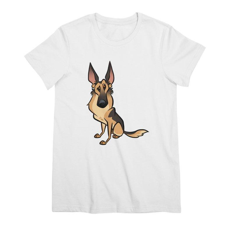 German Shepherd Women's Premium T-Shirt by binarygod's Artist Shop