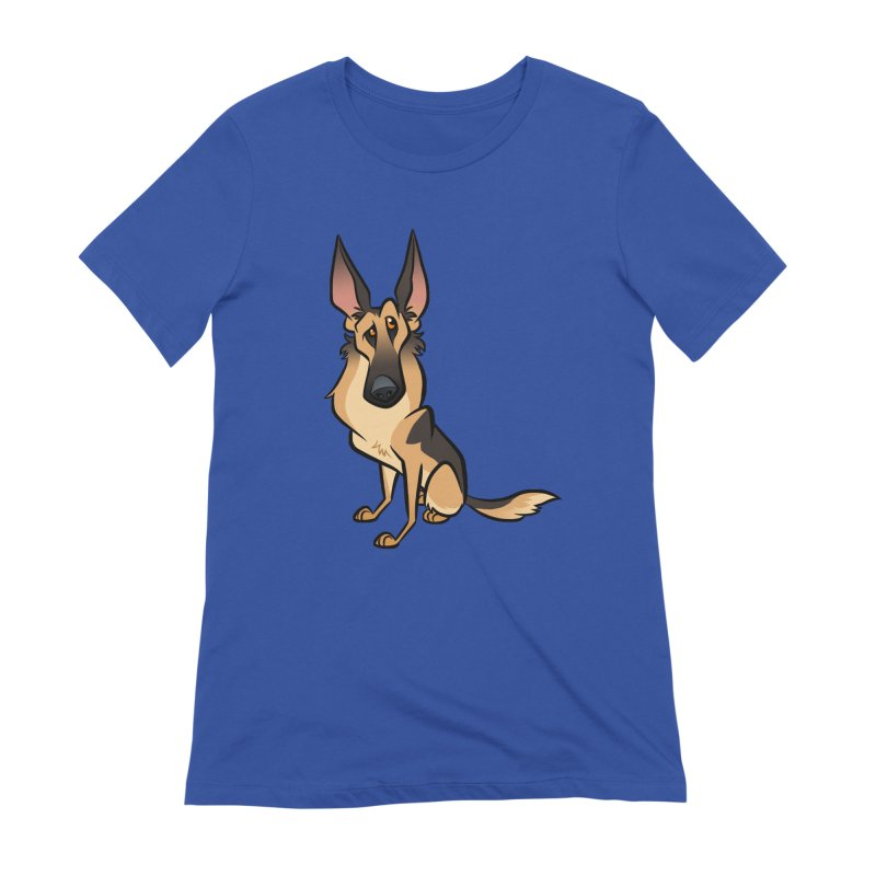 German Shepherd Women's Extra Soft T-Shirt by binarygod's Artist Shop