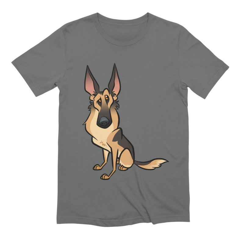 German Shepherd Men's T-Shirt by binarygod's Artist Shop