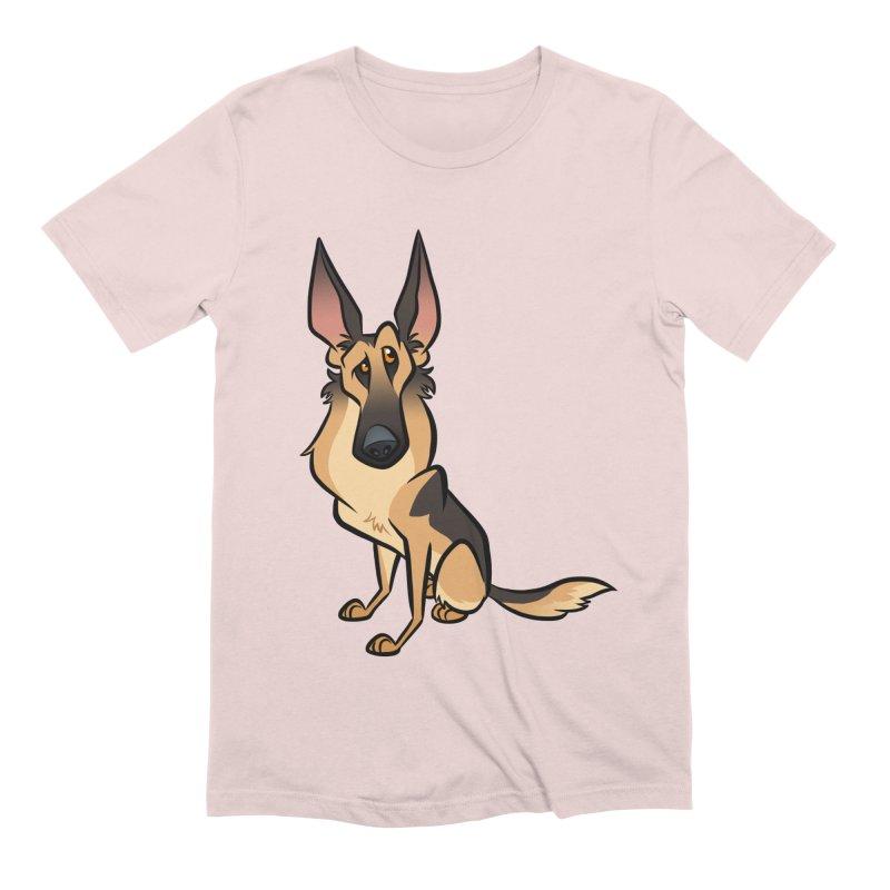 German Shepherd Men's Extra Soft T-Shirt by binarygod's Artist Shop