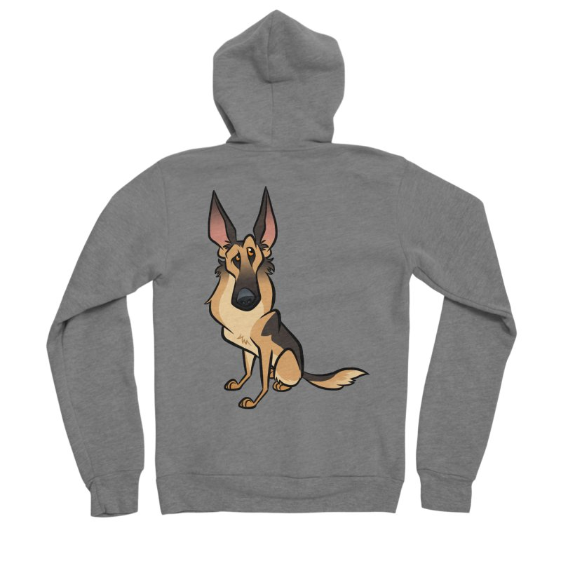 German Shepherd Women's Sponge Fleece Zip-Up Hoody by binarygod's Artist Shop