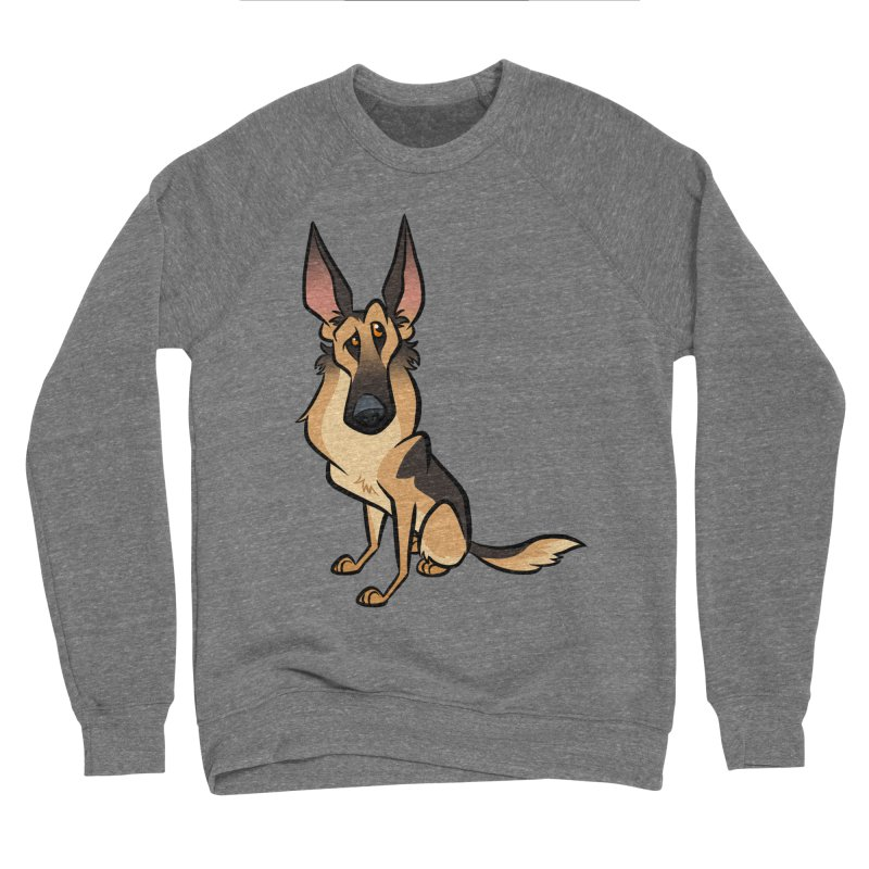 German Shepherd Men's Sponge Fleece Sweatshirt by binarygod's Artist Shop