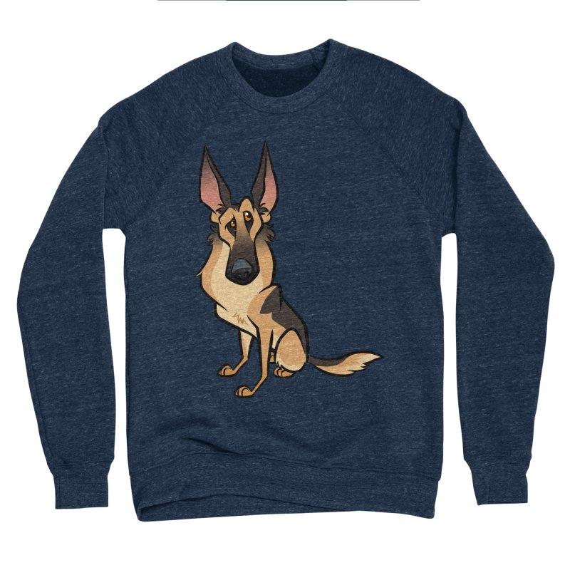 German Shepherd Women's Sponge Fleece Sweatshirt by binarygod's Artist Shop