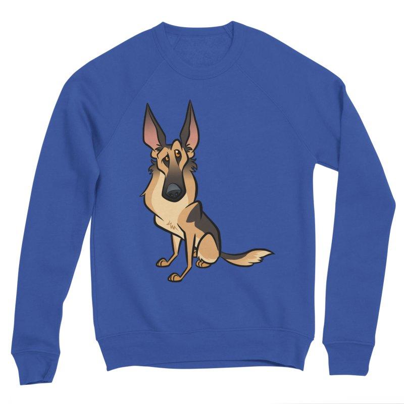 German Shepherd Men's Sponge Fleece Sweatshirt by binarygod's Artist Shop