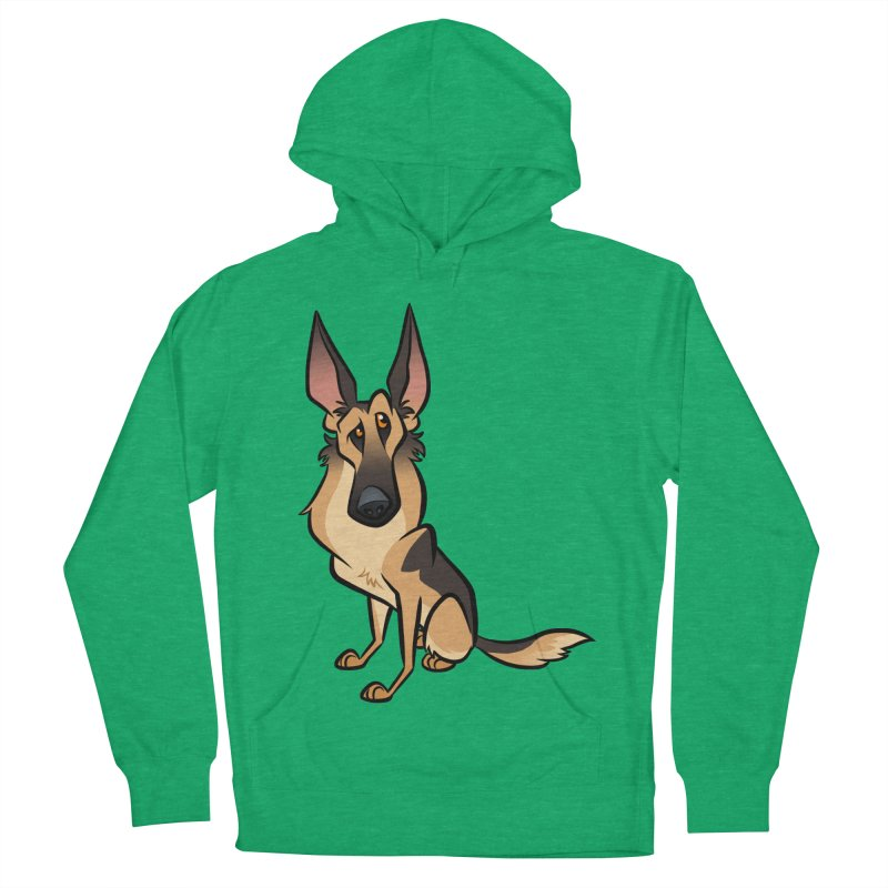 German Shepherd Women's French Terry Pullover Hoody by binarygod's Artist Shop