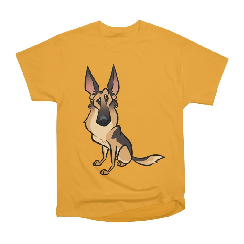 German Shepherd Men's Heavyweight T-Shirt by binarygod's Artist Shop