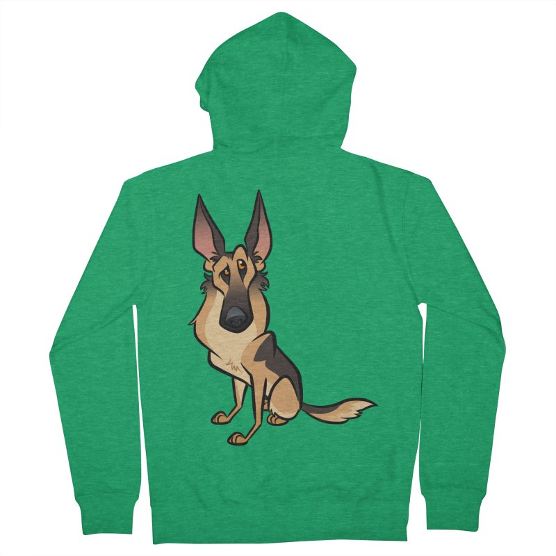 German Shepherd Men's Zip-Up Hoody by binarygod's Artist Shop