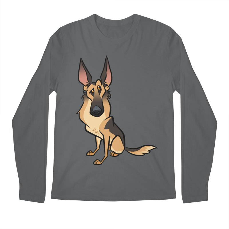 German Shepherd Men's Longsleeve T-Shirt by binarygod's Artist Shop
