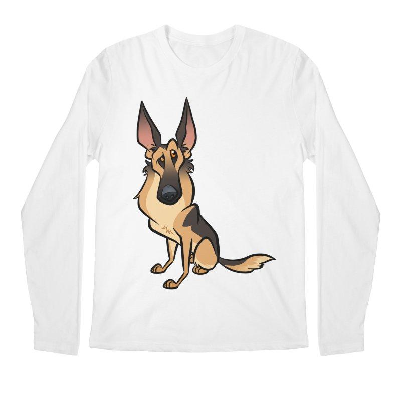 German Shepherd Men's Regular Longsleeve T-Shirt by binarygod's Artist Shop