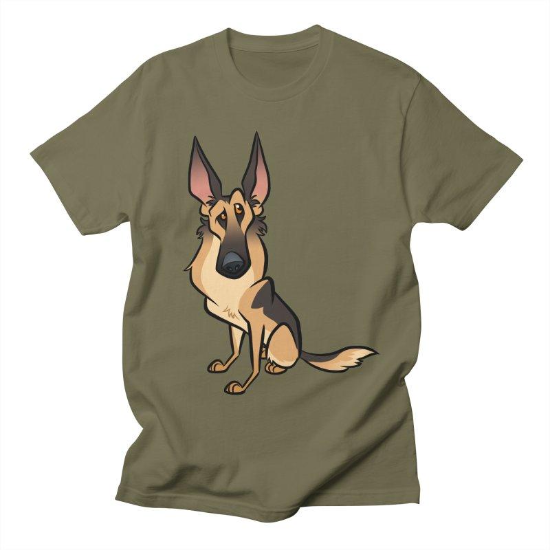 German Shepherd Men's Regular T-Shirt by binarygod's Artist Shop