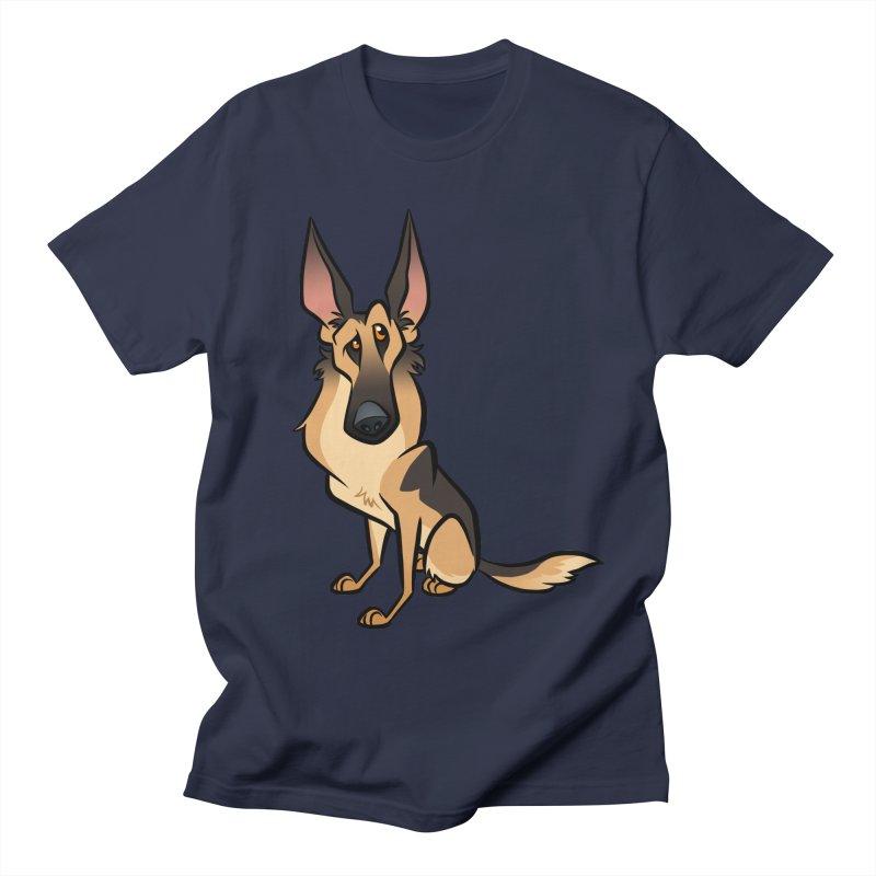 German Shepherd Women's Regular Unisex T-Shirt by binarygod's Artist Shop