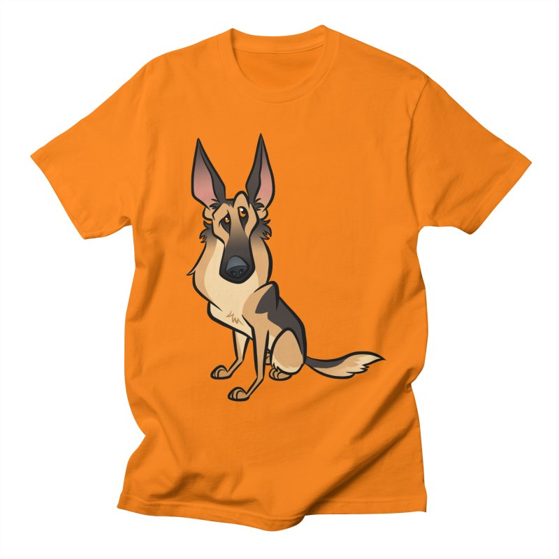 German Shepherd Women's Regular Unisex T-Shirt by binarygod's Artist Shop