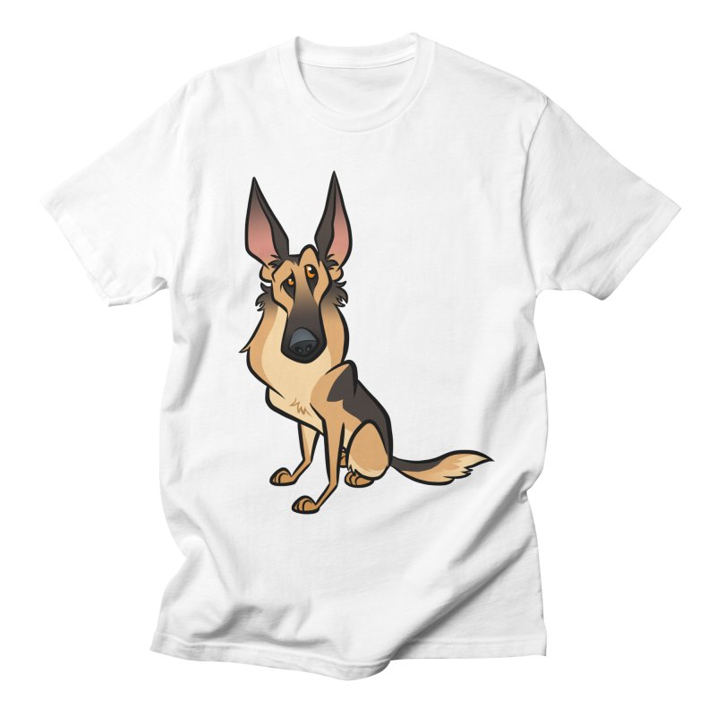 German Shepherd Men's Regular T-Shirt by binarygod's Artist Shop