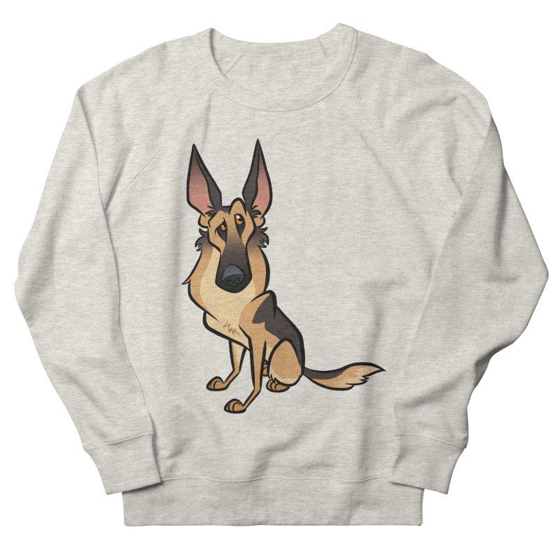 German Shepherd Men's French Terry Sweatshirt by binarygod's Artist Shop
