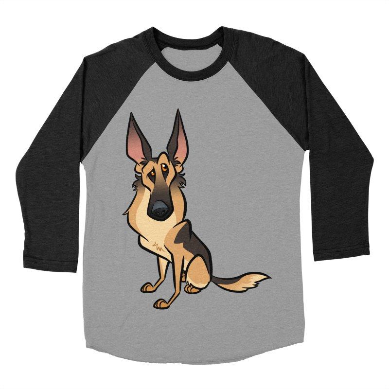German Shepherd Women's Baseball Triblend Longsleeve T-Shirt by binarygod's Artist Shop