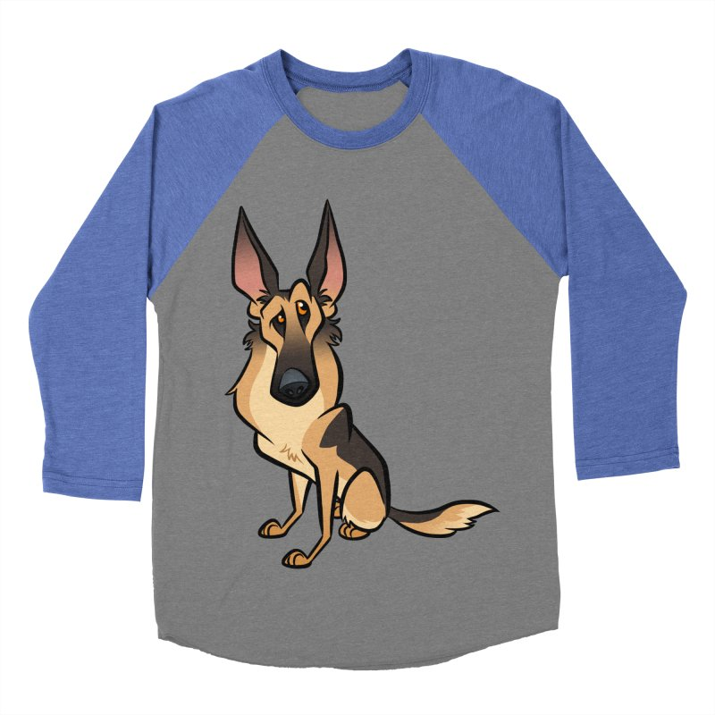 German Shepherd Men's Baseball Triblend Longsleeve T-Shirt by binarygod's Artist Shop