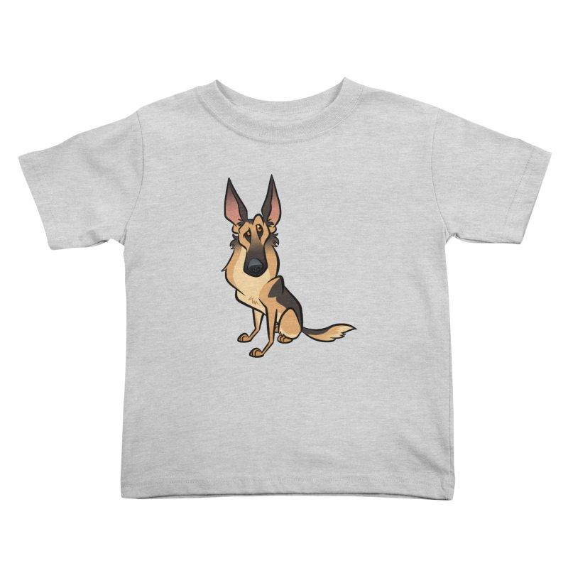 German Shepherd Kids Toddler T-Shirt by binarygod's Artist Shop
