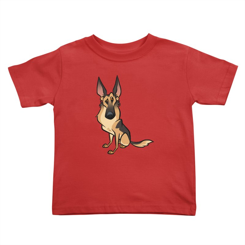 German Shepherd Kids Toddler T-Shirt by binarygod's Artist Shop